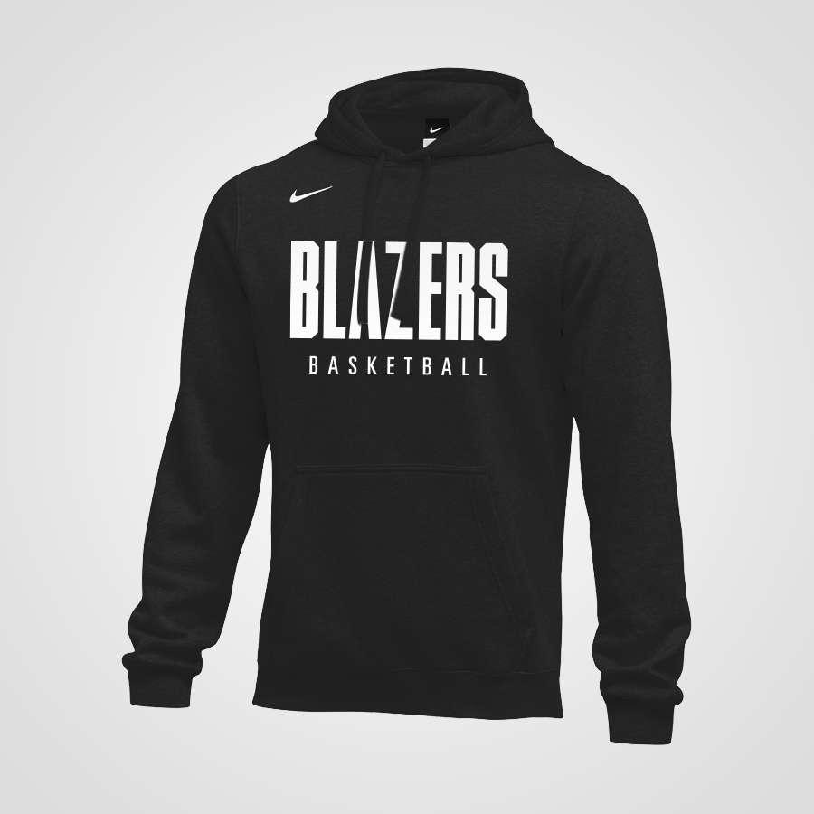 2d3e8c7300d5 Nike Pullover Blazers Hoodie - Black