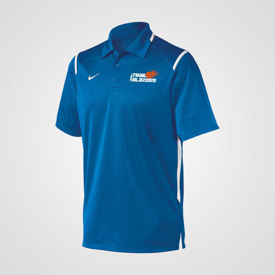 0d815510 Nike Team Polo - Blue | Derby Trailblazers