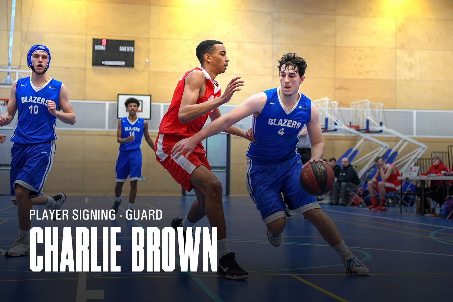 Charlie Brown signs for Derby Trailblazers Mens Senior Team